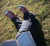 Chillin' with a book