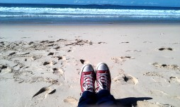 Sun, surf, sand, shoes