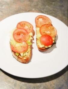 Brekky on fresh, homemade sourdough - delish